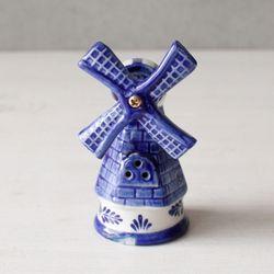 델프트 블루 풍차 - 블루 (W0488)