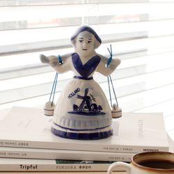 델프트 블루 소녀벨M (W0251)