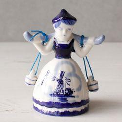 델프트 블루 소녀벨S (W0249)