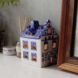 델프트 블루 하우스 캔들홀더 (W0503)