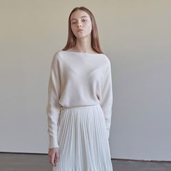 MELLOW BOAT NECK KNIT IVORY