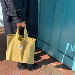 체크 미니 가방(옐로우)