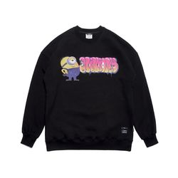 MINIONS OVERSIZED HEAVY SWEAT CREWNECK BLACK