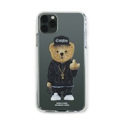 PHONE CASE COMPTON BEAR CLEAR iPHONE 11  11 Pro  11 Pro Max