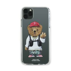 PHONE CASE V BEAR CLEAR iPHONE 11  11 Pro  11 Pro Max
