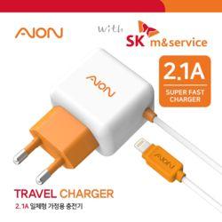 with SK엠앤서비스 8핀 가정용 일체형 충전기 2.1A