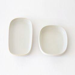 까사무띠 쎄나 둥근 사각접시 2size