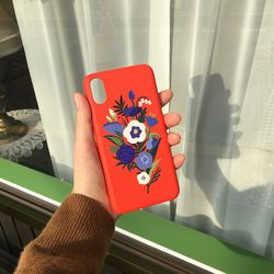 Bloom with moon Redorange for phonecase 카드범퍼케이스