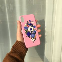 Bloom with moon Pink for phonecase 카드범퍼케이스 (전기종)