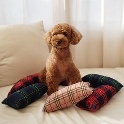 강아지 프라하체크베개 3colors