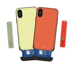 나인어클락 컬러 카드슬롯 케이스 + 컬러 스트랩 - 아이폰XS MAX