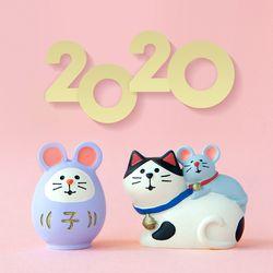 2020 쥐띠 마스코트 피규어 새해 한정판