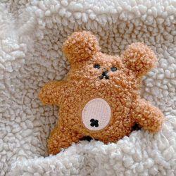 에어팟 1 2 3세대 프로 뽀글 테디베어 곰 털 케이스