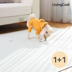 리빙코디 PVC 애견매트 2개 강아지매트 슬개골 탈구예방