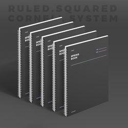 스프링북 컬러칩 - 다크호스 (룰드) 5EA