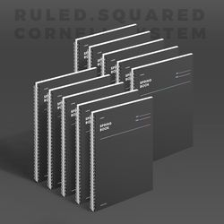 스프링북 컬러칩 - 다크호스 (룰드) 10EA