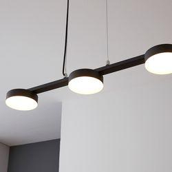LED 벤자민 3등 인테리어조명(블랙)