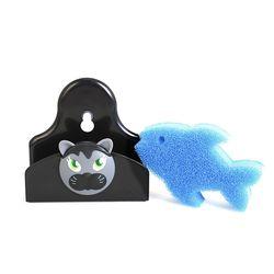 비가 펠릭스 물고기 수세미&홀더 세트 스펀지 VIG-9656