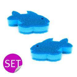 비가 펠릭스 물고기 수세미 2P 세트 스펀지 VIG-9652
