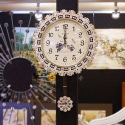 OP3127-A 비즈 단면 추벽시계 (국산)