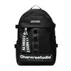 ALMOST BLUE X CHARMS BACKPACK-BLACK&WHITE