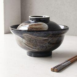 아이카 붓터치 뚜껑 돈부리 그릇