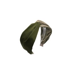 two tone hairband (khaki)