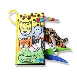 도도코 아기 바스락 촉감놀이 헝겊책 정글동물 꼬리