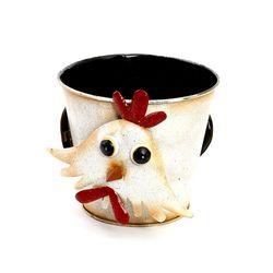 스프링양철화분암닭