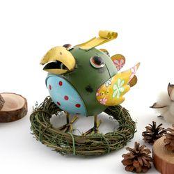스프링양철인형앵무새