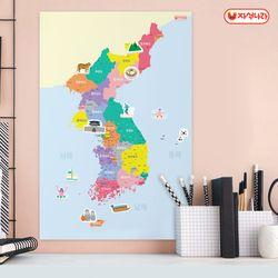 자석이 붙는 한국지도 (40x60) -한국사-국내여행-우리나라