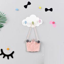 [썸네일 요청] 귀여운 구름모양 다용도 소품 옷 도구 걸이