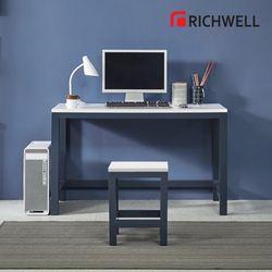 네이비 일자 책상 1200 (의자별도)
