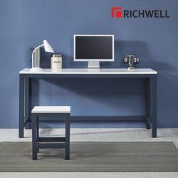 네이비 일자 책상 1500 (의자별도)
