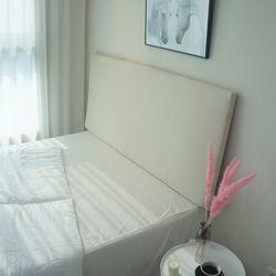 심플 슬림 침대 헤드보드 6color - (슈퍼)싱글+솜