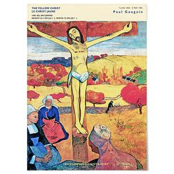 대형 패브릭 포스터 십자가 성경 그림 액자 폴 고 갱 5