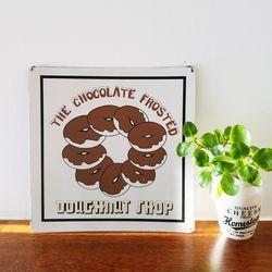 초콜릿 도너츠 틴 사인보드