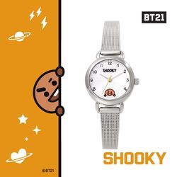 BT21 실버 메쉬시계 : SHOOKY