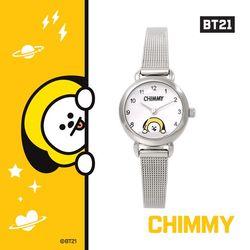 BT21 실버 메쉬시계 : CHIMMY