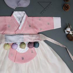 1692.S 아우라 핑크 당의여아한복