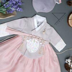 1694.S 핑크 클래식 당의 여아 주니어한복