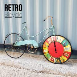 빈티지 자전거 인테리어 무소음 벽시계