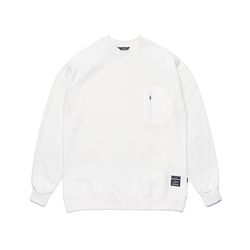 STGM TECH OVERSIZED HEAVY SWEAT CREWNECK WHITE