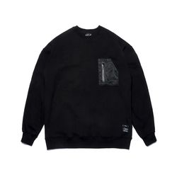 STGM TECH OVERSIZED HEAVY SWEAT CREWNECK BLACK