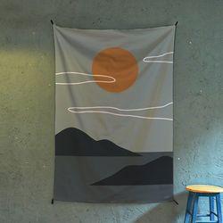 태양 일러스트 패브릭 포스터.가리개커튼 (태피스트리)
