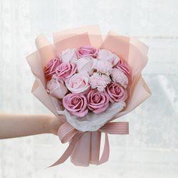 꽃다발 입학 졸업 기념일 선물  파스텔비누꽃다발