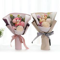 꽃다발 입학 졸업 기념일 선물 곰인형꽃다발