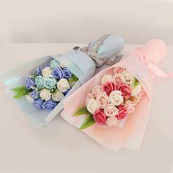 꽃다발 입학 졸업 기념일 선물 21송이비누꽃다발