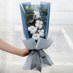 꽃다발 입학 졸업 기념일 선물 5송이목화꽃다발