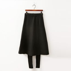 Warm A-Line Skirt Leggings